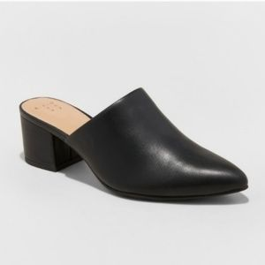 A new day Bianca Pointed Toe Black Mules